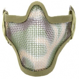 Black Bear SHADOW Steel Mesh Lower Airsoft Face Mask - WOODLAND