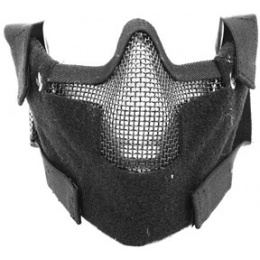 Black Bear Airsoft Splinter Steel Mesh Padded Face Mask - BLACK