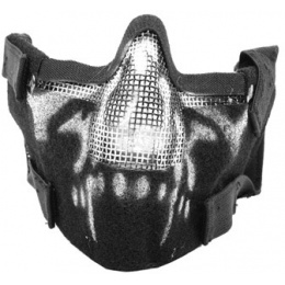 Black Bear Airsoft Splinter Steel Mesh Padded Face Mask - GHOST