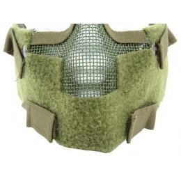 Black Bear Airsoft Splinter Steel Mesh Padded Face Mask - OD GREEN