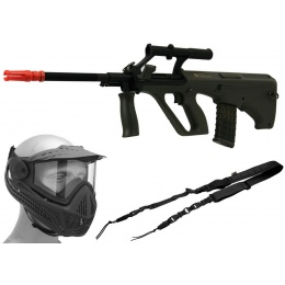 New Year Bundle: ASG Licensed AUG AEG Bullpup Rifle + Full Face Mask + Hybrid Sling
