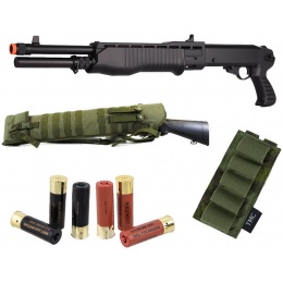 New Year Bundle: ASG SAS Shotgun + 6-Pack Shells + Shell Panel + Scabbard Gun Case