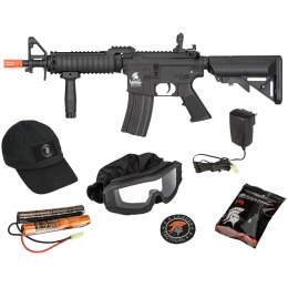 New Year Bundle: Lancer Tactical Cap + Safety Goggles + M933 Commando AEG Rifle