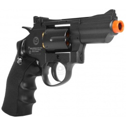 WG Sport 708 Compact High-Powered Airsoft CO2 Revolver Pistol - BLACK
