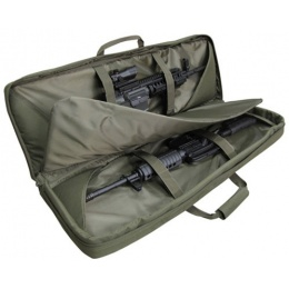 Condor Outdoor 46in Double Rifle Case w/ MOLLE Mag Pouches - OD GREEN