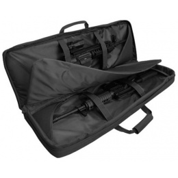 Condor Outdoor 46 in. Double Rifle Case w/ MOLLE Mag Pouches - BLACK