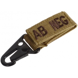 Condor Outdoor Blood Type Key Chain - TAN