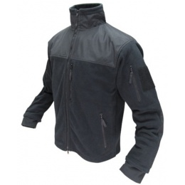 Condor Outdoor Tactical ALPHA Micro Fleece Jacket #601 - BLACK