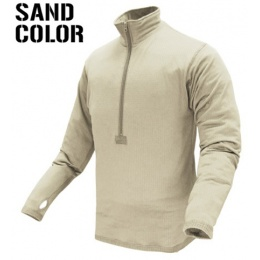 Condor Outdoor Airsoft BASE II Zip Long Sleeve Fleece Shirt - SAND