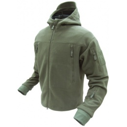 Condor Outdoor Tactical SIERRA Hooded Fleece Jacket #605 - OD