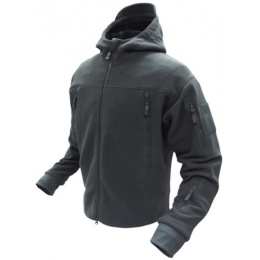 Condor Outdoor Tactical SIERRA Hooded Fleece Jacket #605 - BLACK