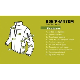 Condor Outdoor Tactical PHANTOM Soft Shell Jacket #606 - FOLIAGE