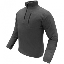Condor Outdoor Tactical 1/4 ZIP Fleece Pullover #607 - BLACK