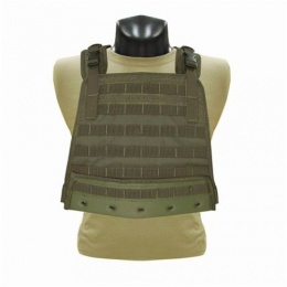 Condor Outdoor Modular Compact Plate Carrier w/ MOLLE Webbing - OD
