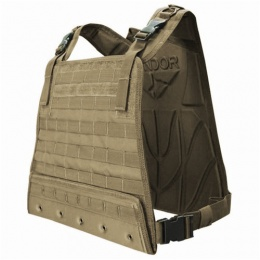 Condor Outdoor Tactical Compact Plate Carrier w/ MOLLE Webbing - TAN