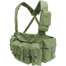 Condor Outdoor Tactical 7 Pocket Chest Rig w/ Radio Pouch - OD