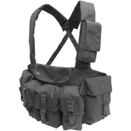 Condor Outdoor Tactical 7 Pocket Chest Rig w/ Radio Pouch - BLACK