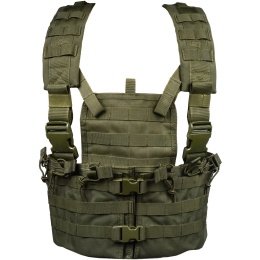Condor Outdoor Airsoft Modular MOLLE Chest Rig w/ Hydration Pouch - OD