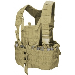 Condor Outdoor Airsoft MOLLE Chest Rig w/ Hydration Pouch - TAN