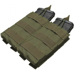 Condor Outdoor Tactical MOLLE Open-Top Double M4 Magazine Pouch - OD