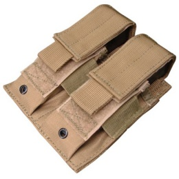 Condor Outdoor Tactical MOLLE Double Pistol Magazine Pouch - TAN