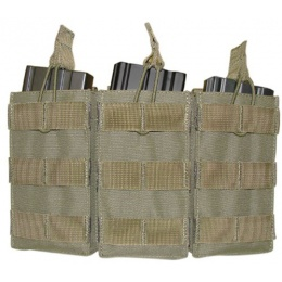 Condor Outdoor Tactical MOLLE Open-Top Triple M4 Magazine Pouch - OD