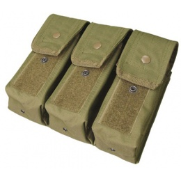 Condor Outdoor Tactical MOLLE Triple AK/ M4 Magazine Pouch - OD