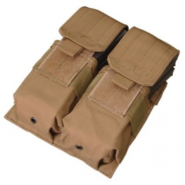 Condor Outdoor Tactical MOLLE Double M4 Magazine Pouch - TAN