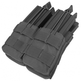 Condor Outdoor MOLLE Open-Top Double Stacker M4 Magazine Pouch - BLACK