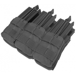 Condor Outdoor MOLLE Open-Top Triple Stacker M4 Magazine Pouch - BLACK