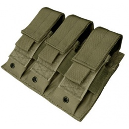 Condor Outdoor Tactical MOLLE Triple Pistol Magazine Pouch - OD