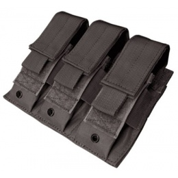 Condor Outdoor Tactical MOLLE Triple Pistol Magazine Pouch - BLACK