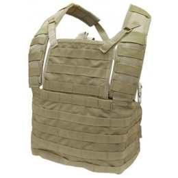 Condor Outdoor Tactical Modular MOLLE Chest Rig RRV - TAN