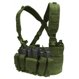Condor Outdoor Modular MOLLE Recon Chest Rig w/ Mag Pouches - OD GREEN