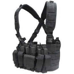 Condor Outdoor Modular MOLLE Recon Chest Rig w/ Mag Pouches - BLACK