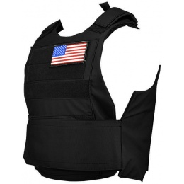Lancer Tactical Airsoft Adjustable American Body Armor [Nylon] - BLACK