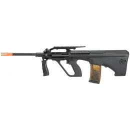 Army Armament Polymer AUG Civilian AEG Airsoft Rifle w/ Top Rail - BLACK