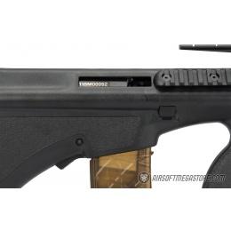 Army Armament Polymer AUG Civilian AEG Airsoft Rifle w/ Top Rail - BLACK