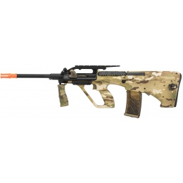 Army Armament Polymer AUG Civilian AEG Airsoft Rifle w/ Top Rail - MULTICAM