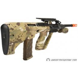 Army Armament Polymer AUG Civilian AEG Airsoft Rifle w/ Top Rail - MULTICAM
