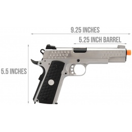 WE Tech Full Metal Knighthawk 1911 Gas Blowback Airsoft Pistol (SILVER)