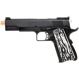 WE Tech Original 1911 Version C Full Metal GBB Airsoft Pistol w/ Imitation Ivory Grips (BLACK)