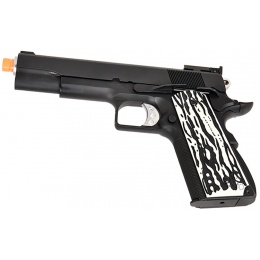 WE Tech Original 1911 Version C Full Metal GBB Airsoft Pistol w/ Imitation Ivory Grips (BLACK)
