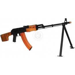 CYMA RPK LMG Full Metal Airsoft AEG Rifle w/ Bipod - GENUINE WOOD