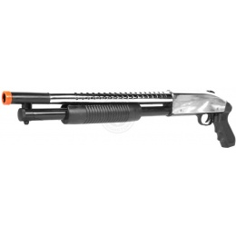 Airsoft TacForce Sawed-Off Combat CQB Shotgun - Chrome