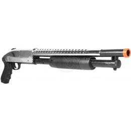 Airsoft TacForce Sawed-Off Combat CQB Shotgun - Chrome