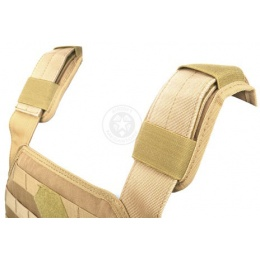 AMA Airsoft MOLLE Modular Plate Carrier - TAN