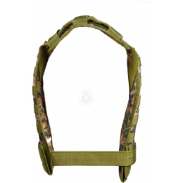 AMA Airsoft MOLLE Modular Plate Carrier - WOODLAND