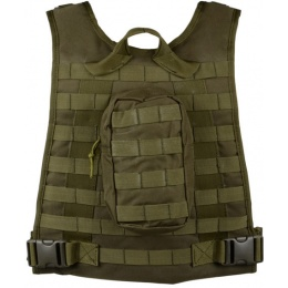 AMA Airsoft MOLLE High Speed Modular Plate Carrier - OD