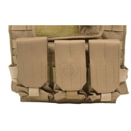 AMA Airsoft MOLLE High Speed Modular Plate Carrier - TAN
